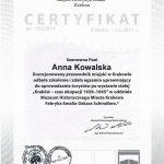 Muzeum Historyczne Miasta Krakowa - Certyfikat