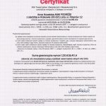 Certyfikat AXA (2016-2015)