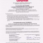 Certyfikat AXA (2015-2014)