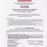 Certyfikat AXA (2014-2013)
