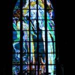 Vitrail  Dieu le Pere Ÿ a l'église des Franciscains