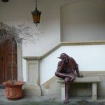 The statue in the courtyard, Niepolomice Castle