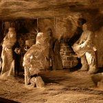 Wieliczka, la mine de sel, sculptures en se