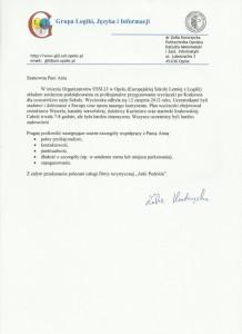 Rekomendacja Grupy logiki, Języka i Informacji