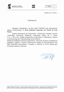 Rekomendacja Politechnika Krakowska